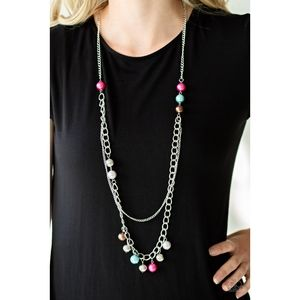 Modern Musical Multicolor Bead Chain Necklace Set